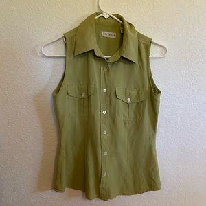 Ann Taylor 100% silk green shirt